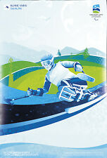 Original Vintage Poster Vancouver Winter Paralympics Apline Skiing Sports 2010