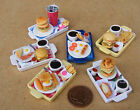 1:12 Scale Meal On A Tray Dolls House Miniature Handmade Barbecue Breakfast Food
