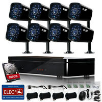 ELEC 8CH 960H HDMI 1080P DVR 1500TVL CCTV Home Security Camera System 500GB HDD