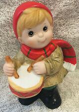 Vintage Homco Christmas Figurines Drummer Boy #5564