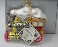 KURT ADLER POLONAISE KOMOZJA LARGE STEAM  LOCOMOTIVE CHRISTMAS ORNAMENT NEW