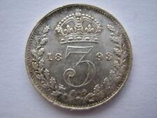 1893 Veiled Head silver Threepence GEF