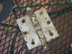 """Vintage Single 3.5"""" Square Mortise Cannon Ball Tip Door Hinge Metal Salvage"""