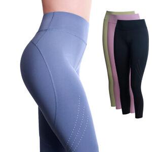 Femmes Pantalon de Sport Collants Jambières Push Up Haut Taille Fitness Yoga