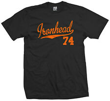 Ironhead 74 Script & Tail T-Shirt - 1974 Motorcycle Bobber Chopper - All Colors