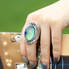 Womens Mood Ring Vintage Color Change Emotion Feeling Oval Stone Ring Size 7/8/9