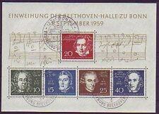 Gestempelte Briefmarken aus der BRD (1955-1959) mit Musik-Motiv