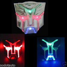 Car Motorcycle Transformers Autobot LED Solar Flash strobe Light Badge Emblem
