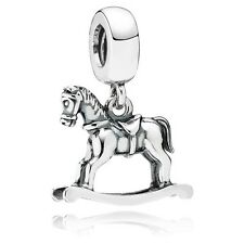 Pandora authentic silver S925 791413 Rocking Horse dangle slide charm bead NWOT
