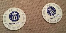 2 HB Munchen Coasters New