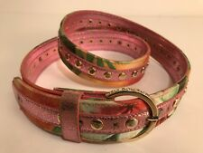 Vintage Dolce Gabbana D&G Multicolor Funky Belt Size 35-39 Inches 100% Authentic