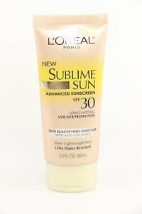 3 PACK LOreal Sublime Sun Advanced Sunscreen SPF 30 Lotion, 3 oz PKG VARIES U40