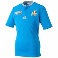adidas Italy Rugby World Cup 2015 Jersey FIR Italia Juniors Blue Top Tee Shirt