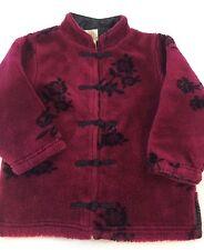 Girls babyGap Magenta Fleece Asian Mandarin Style Light Jacket Toddler 24 Months