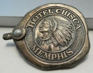 Vintage Key Fob From Historic Hotel Chisca In Memphis Tennessee
