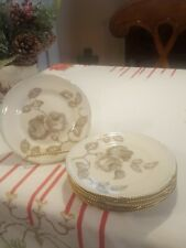 Set of 6 Bread and Butter or Dessert Plates in Castleton Gloria Gold Trim