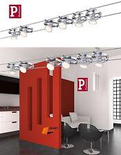 Paulmann Seilsystem CARDAN LED 6x4w Gu5 3 Chrom Deckenlampe Spot-strahler