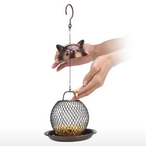 1PC Vintage Cat Shaped Bird Feeder Hanging Nut Bird Feeder for Outdoor Garden