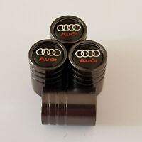AUDI GUN METAL GREY HUGE Valve Dust caps all Cars NON STICK 13 colour RS S LINE