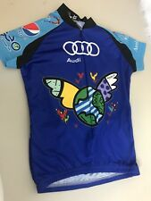 Vomax Audi  BIKE CYCLING JERSEY T-SHIRT Youth Medium Verne Troyer Mini Me Owned