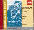 Stravinsky: (Sinfonia) Symphony In Three Movements, Pulcinella Klemperer CD Emi