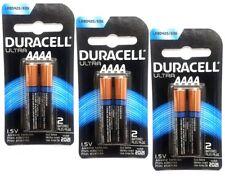 6 Duracell Ultra AAAA Alkaline Batteries MX2500 E96 MN2500 LR8D425 25A USA SELLE