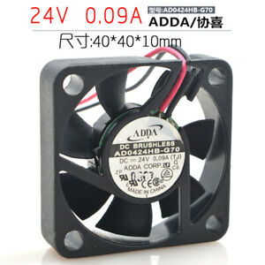 ADDA AD0424HB-G70 4010 24V 0.09A 4CM 2-pin double ball power cooling fan