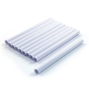 10 X 15mm NEW WHITE RADSNAPS RADIATOR PIPE COVERS - FREE UK DELIVERY