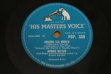 "78 RPM 10"" Shellac Record: Ronnie Hilton - Around The World - HMV POP 338"