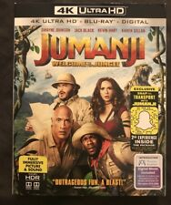 JUMANJI WELCOME TO THE JUNGLE 4K ULTRA HD BLU RAY 2 DISC SET + SLIPCOVER SLEEVE