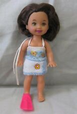 BARBIE KELLY CLUB Friend Little Swimmer Marisa Doll 24600 Brown Hair Swimsuit
