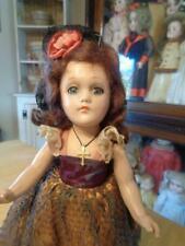 """Vtg. Composition Senorita/Spanish Doll~11""""~Wendy Ann Type Face/Lal? Tlc~Restore~"""