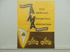 Vintage 1958 AMA Trophies Catalog Price List Motorcycle L10136