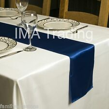 SATIN TABLE RUNNER  280 cm Long x 22 cm Wide VARIOUS COLOURS