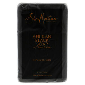 Shea Moisture African Black Soap Troubled Skin Bar Soap 236.0 ml Skincare