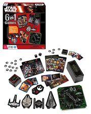 Disney Star Wars 6 in 1 Games Family Board Game New Sealed - Bingo, Dominoes etc