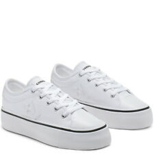 Converse Women's One Star Replay HI  PLATFORM Low Top White Trainers