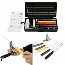 Knife Sharpener Deluxe 5 Whetstones Set Sharpening System Lansky Deluxe Tool New