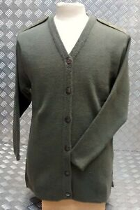 Genuine British Military Issue 80% Wool Mix Button Front Sweater / Cardigan Asst