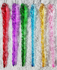 "6"" MULTICOLOR Glass Icicles-  Christmas Ornaments / Decorations"
