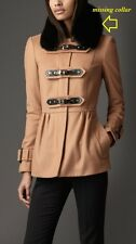Burberry London Prorsum Wool Cashmere Jacket -Size14 - $2195- MISSING FUR COLLAR