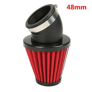 48mm Inlet Cold Air Intake Tapered Air Filter Cleaner For Racing Car Motorcycle