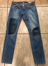 Rag & Bone Jean The Dre Boyfriends Skinny Jeans Wilmington  Wash 26/ 30