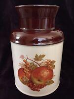 Vintage McCoy Ceramic Milk Can Cookie Jar #253 Brown on White Pottery Crock Jug