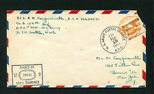 EE. UU. us army postal service 18. feb. 1944. censurados (ba-1)