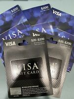 $200 Card ACTIVATED,No Fees After Purchase -NON Relaodable - Free Shipping