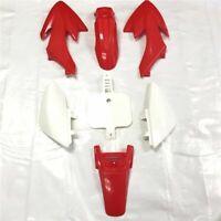 Red Plastic Fender Kit Body Work Fairing Kit For Honda CRF XR XR50 CRF50