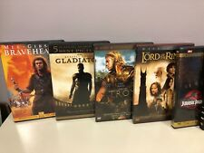 Lot of 8 DVD GLADIATOR BRAVEHEART LORD OF THE RINGS JURASSIC PARK AMERICAN BEAUT