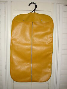 VINTAGE 70'S HANGING GARMENT BAG GOLD NICE CONDITION
