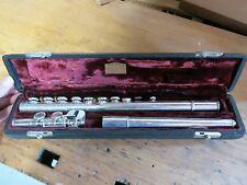 Antique Vintage Gebruder Moennig Flute for Baxter Northup Made in Germany A=440